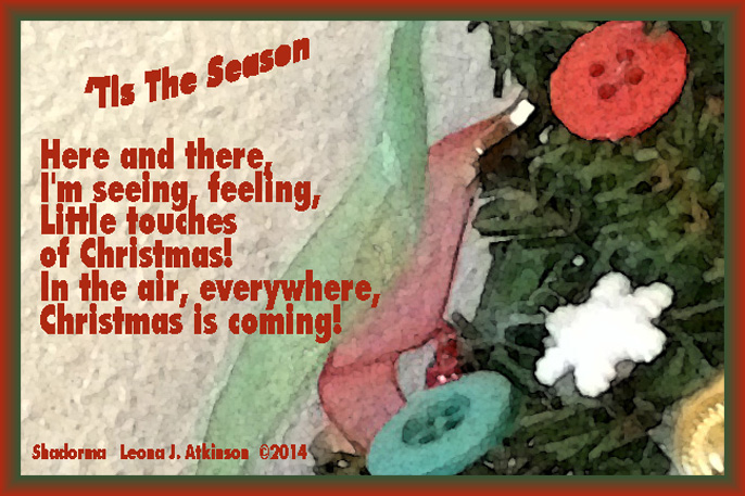 Shadorma poem about Christtmas coming
