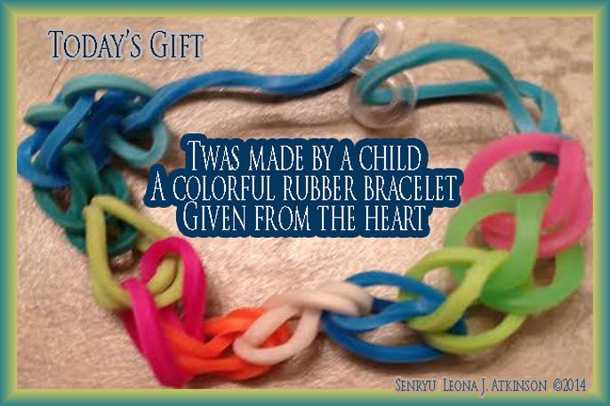 Senryu poem about a bracelet gift