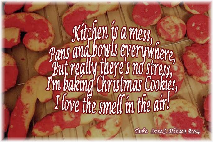 Christmas cookies, Tanka poem