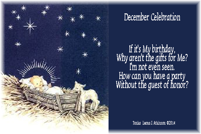 Tanka poem about December Celebration--Christ's birth