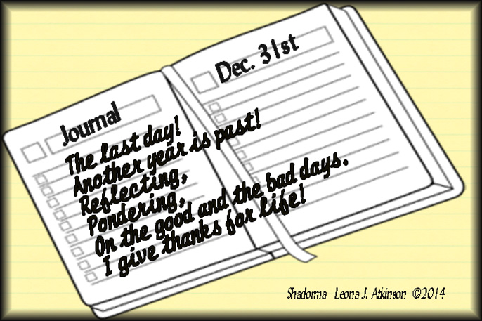 Shadorma poem about the last day of the year