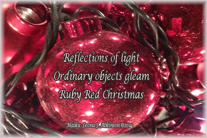 Christmas, ruby red, Haiku