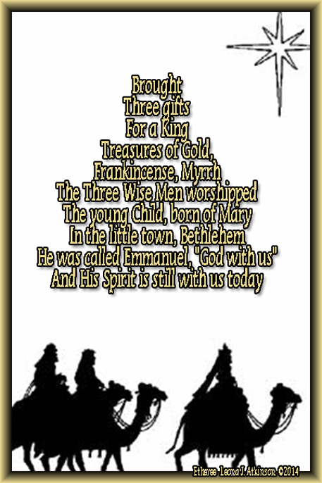 wise men, star of bethlehem, Etheree poem