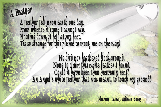 Florette poem about a white feather