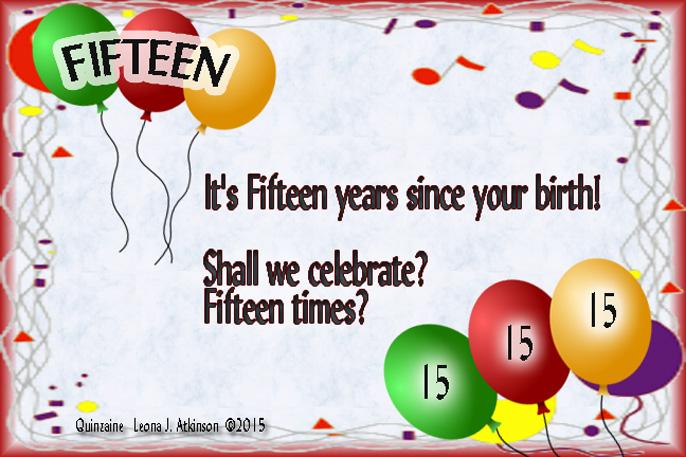 Quinzaine poem about birthday