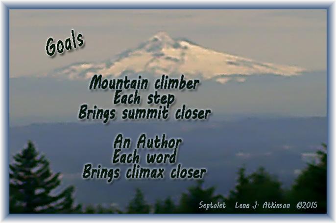 Septolet poem about goals