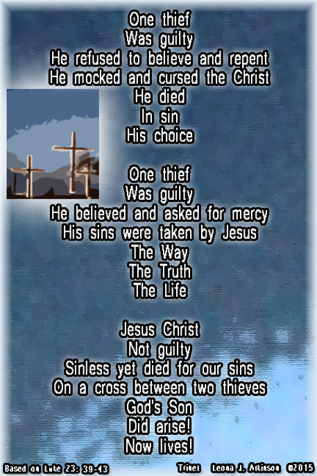 Three Crosses photo and Trinet poem