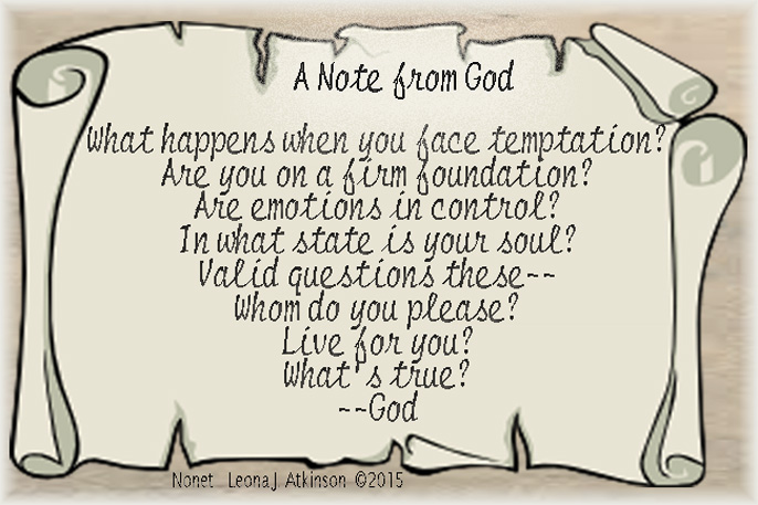A Note from God--Nonet poem
