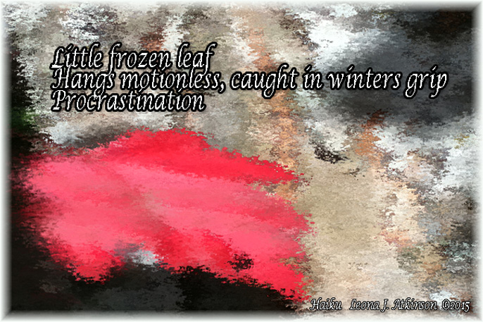 Leaf--frozen--Haiku