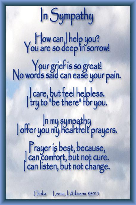 In Sympathy--Choka poem