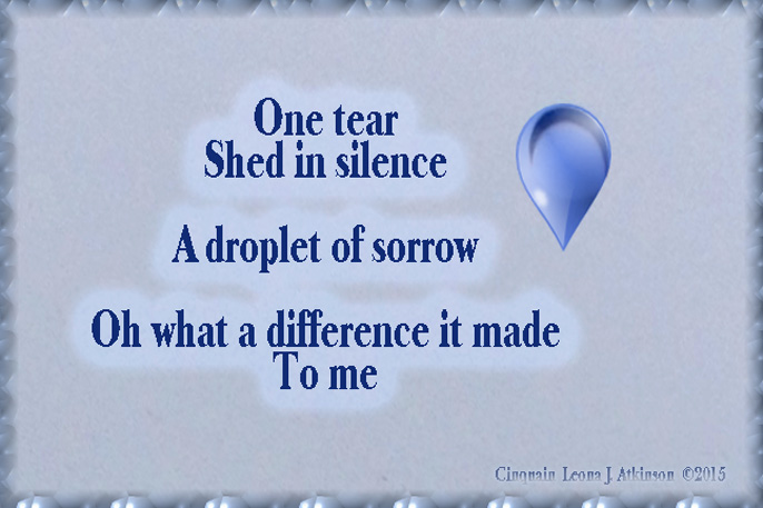Cinquain poem about one teardrop