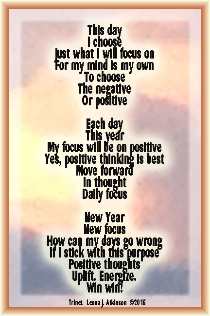 Positive Thinking a Trinet poem