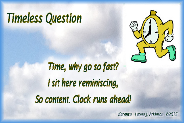 Timeless Question--Clock running