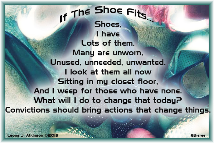 "Shoes--Etheree poem about ""Shoe the World Day"""