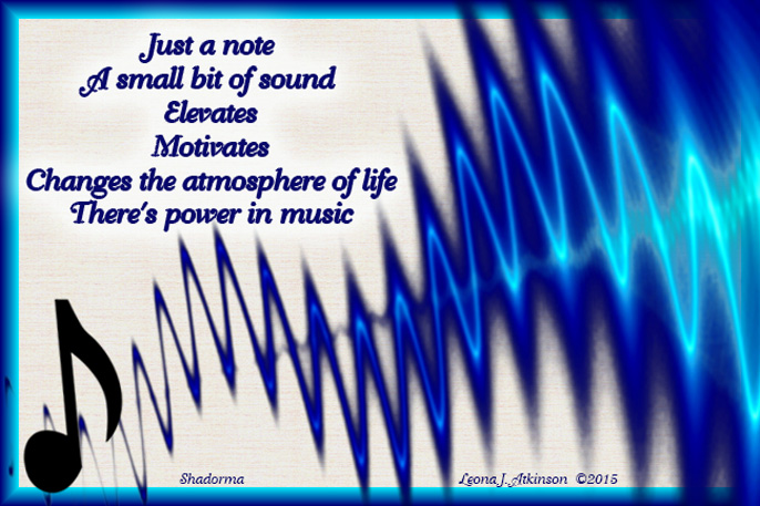 Shadorma poem about the power of music--one note