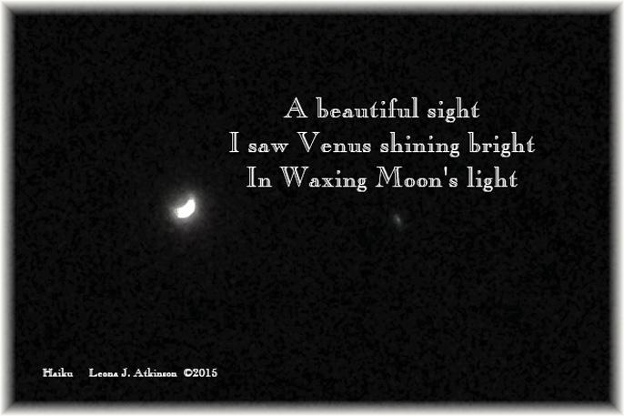 Waxing Moon--Venus--Haiku