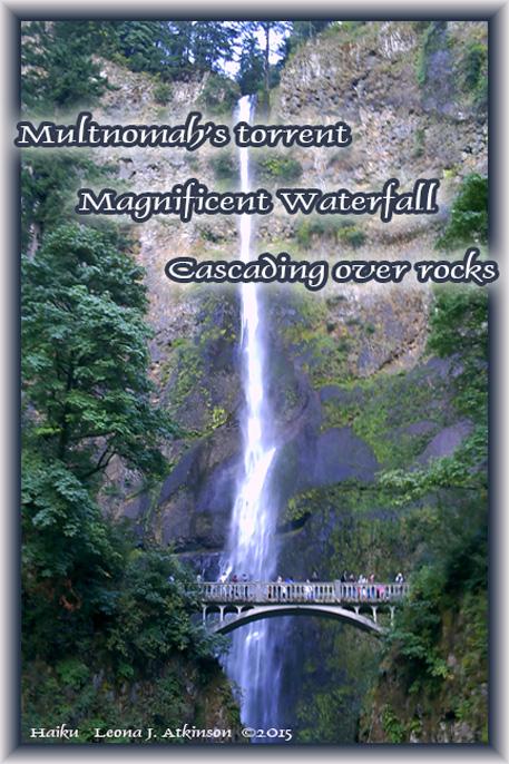 Haiku--Multnomah Falls