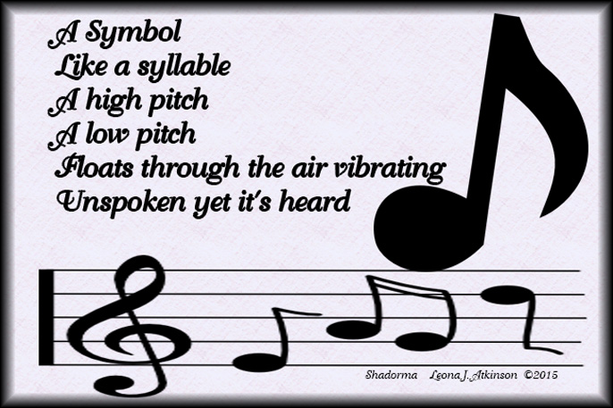 Shadorma poem about a musical note