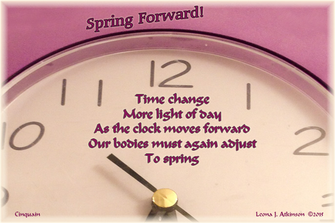 Daylight Savings Time--Spring Forward poem-Cinquain