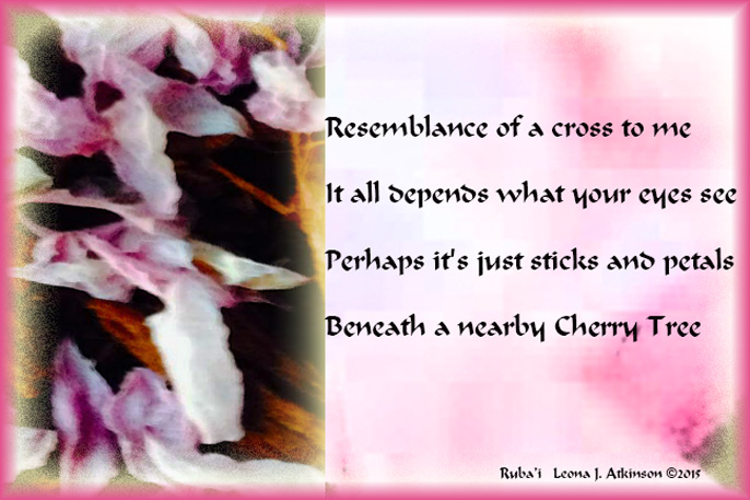 Cherry Tree Petals--Ruba'i poem
