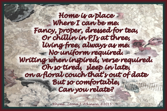 Rhyme poem about my favorite place--Home