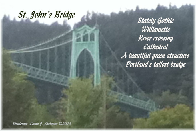 St. John's Bridge  Portland, OR. Shadorma poem