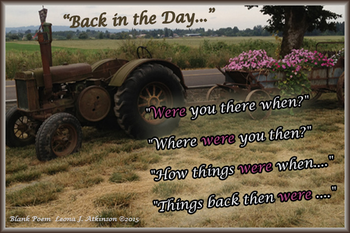 """Back in the Day"" Blank poem"
