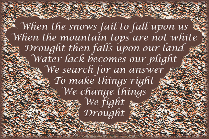 Nonet poem about drought in California