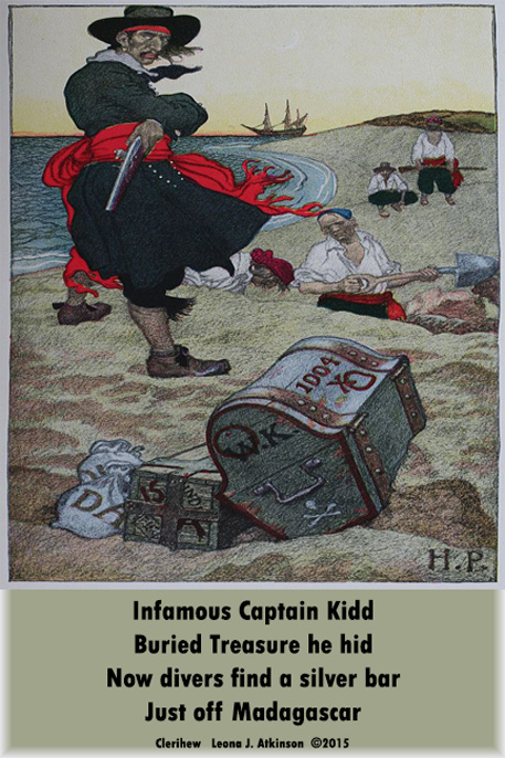 Captain Kidd's treasure found--Clerihew poem