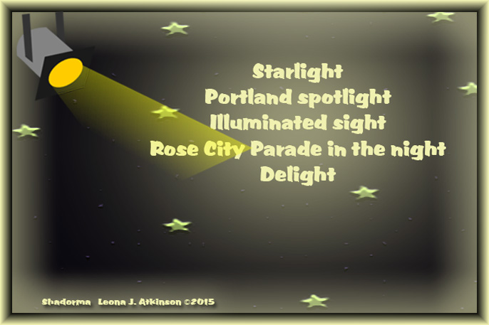 Portland, OR. Starlight Parade 2015--Shadorma poem