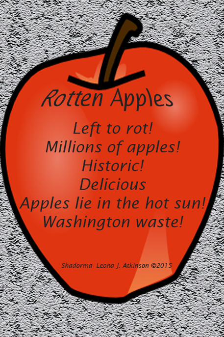 Shadorma poem about Washington State's apple loss that was in the news as an historic event
