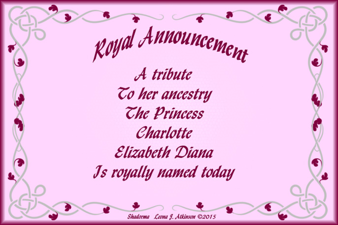Royal Announcement of new princess name