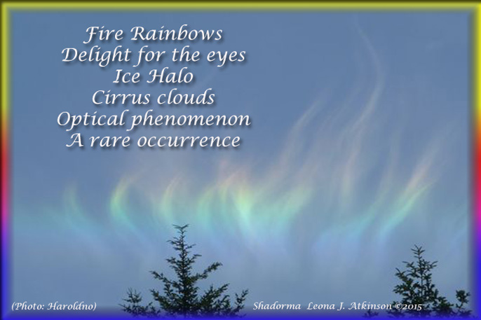 Fire Rainbows--pic and Shadorma poem