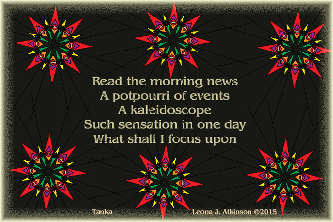 Morning News--Kaleidoscope--Tanka