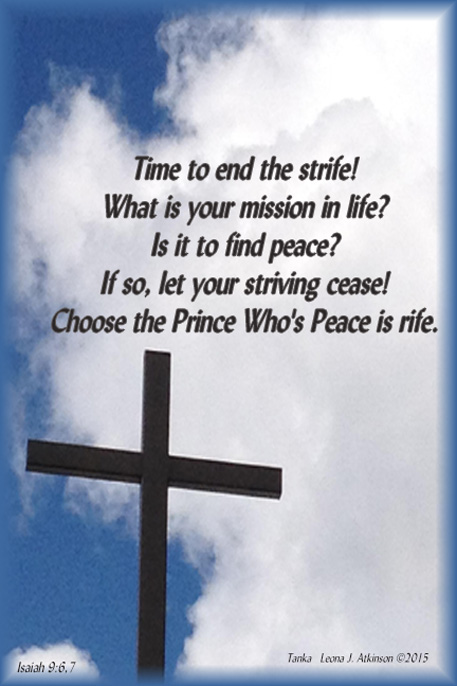 Prince of Peace--Isaiah 9:6,7--Tanka poem