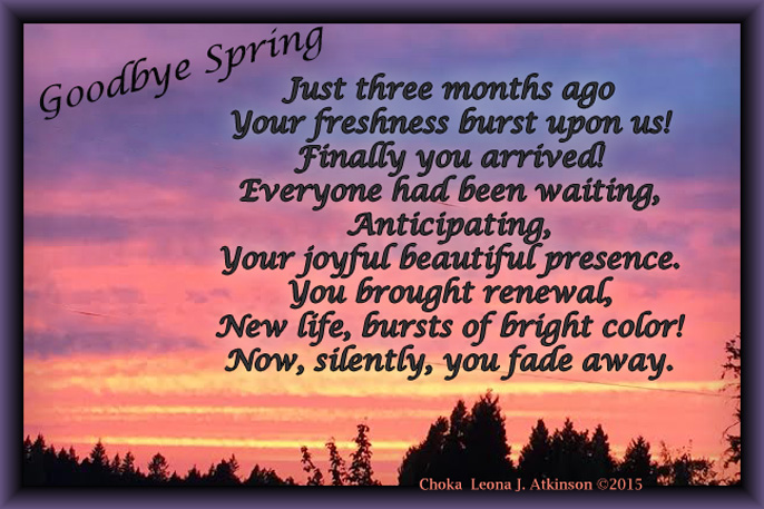 Spring's Last Sunset--picture and Choka poem