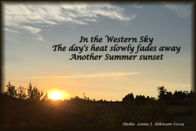 Summer Sunset--Haiku
