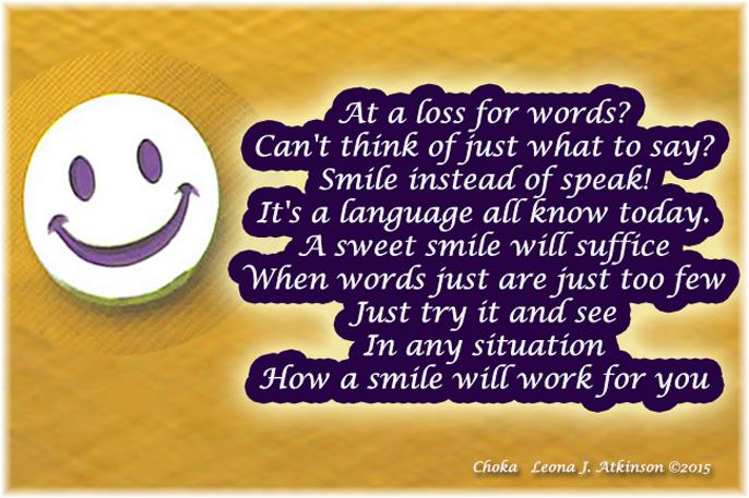 A Smile--Choka poem