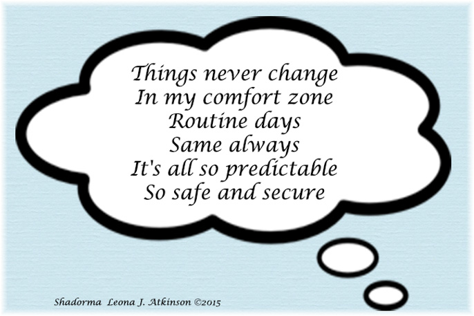 Shadorma poem on being comfortable