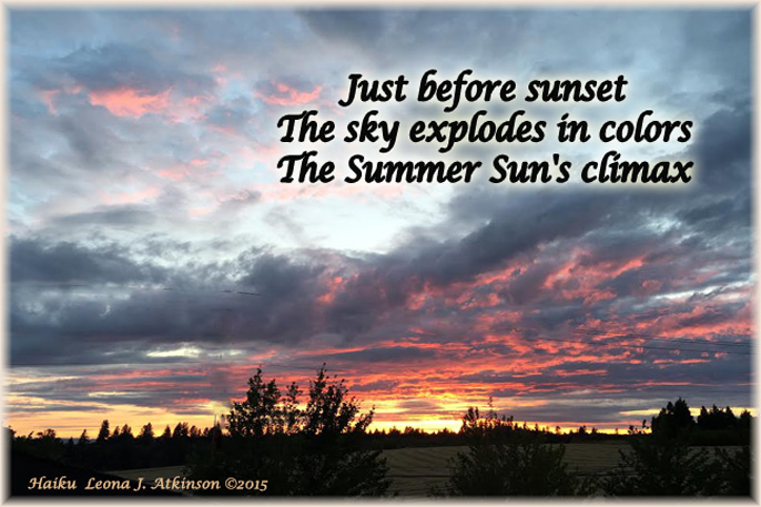 Sunset--Haiku