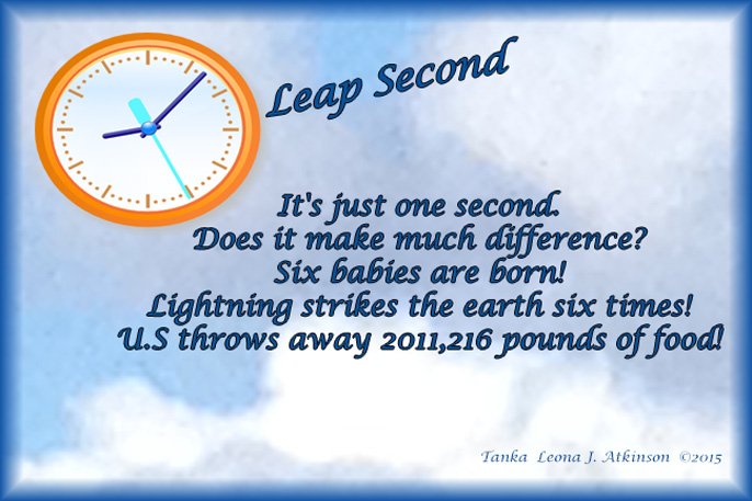 Leap Second--Tanka poem