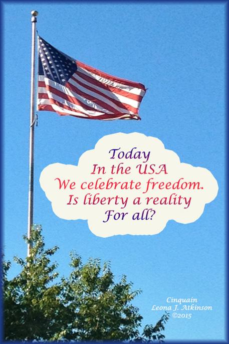 American Flag--Cinquain poem