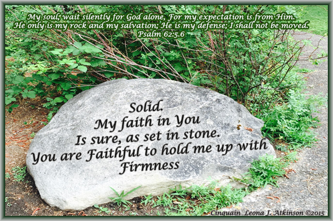Rock photo--Cinquain poem based on Psalm 62:5.6
