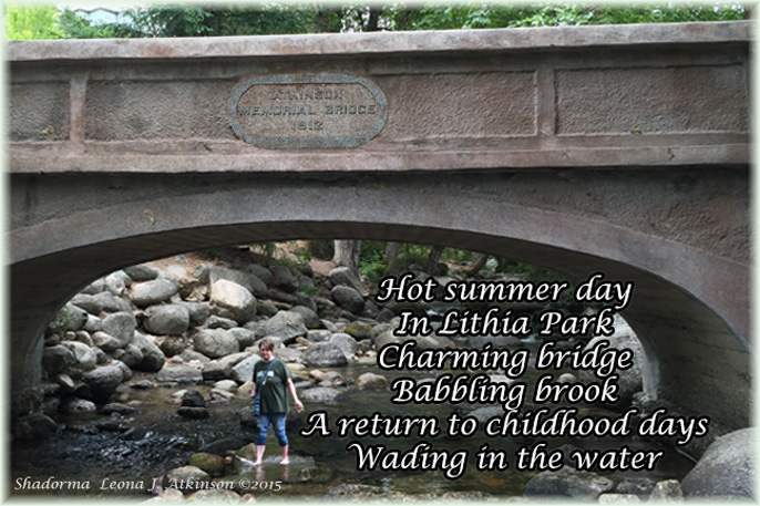 Ashland, Oregon--Bridge and Lithia Park--Shadorma poem