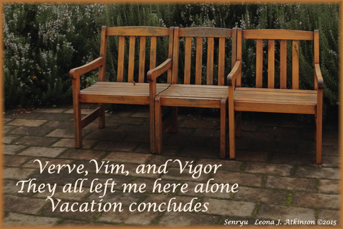 Senryu about Vacation Ending