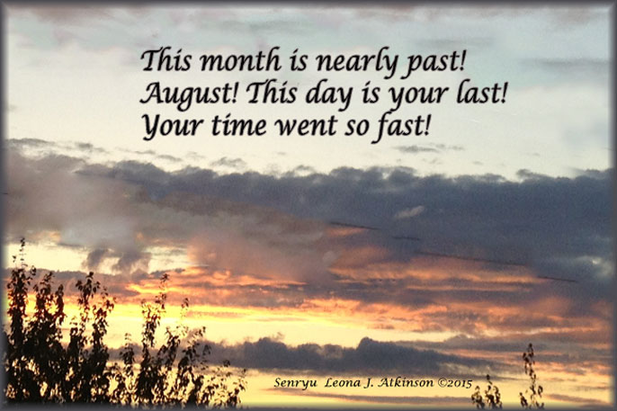Last day of August Senryu poem,