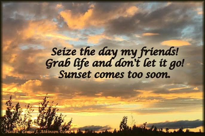 Sunset--Haiku poem about life