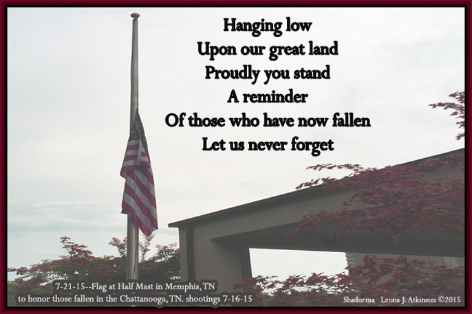 Half Mast USA Flag--Shadorma poem