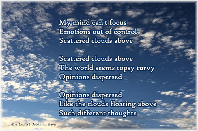 scattered clouds--Haiku Cascade poem
