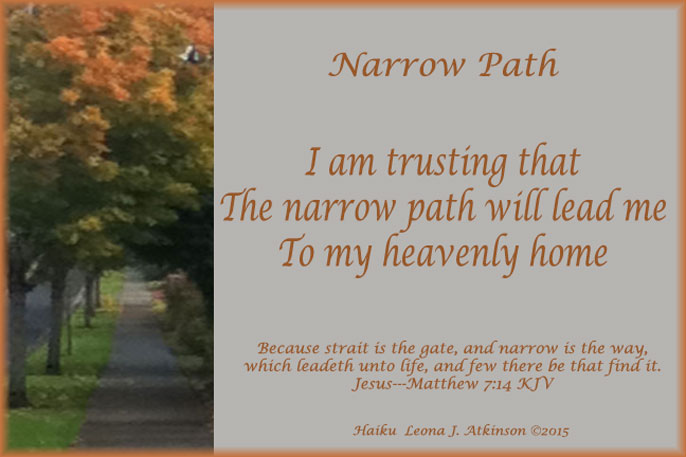 Narrow Path--Haiku--based on Matthew 7:14 KJV